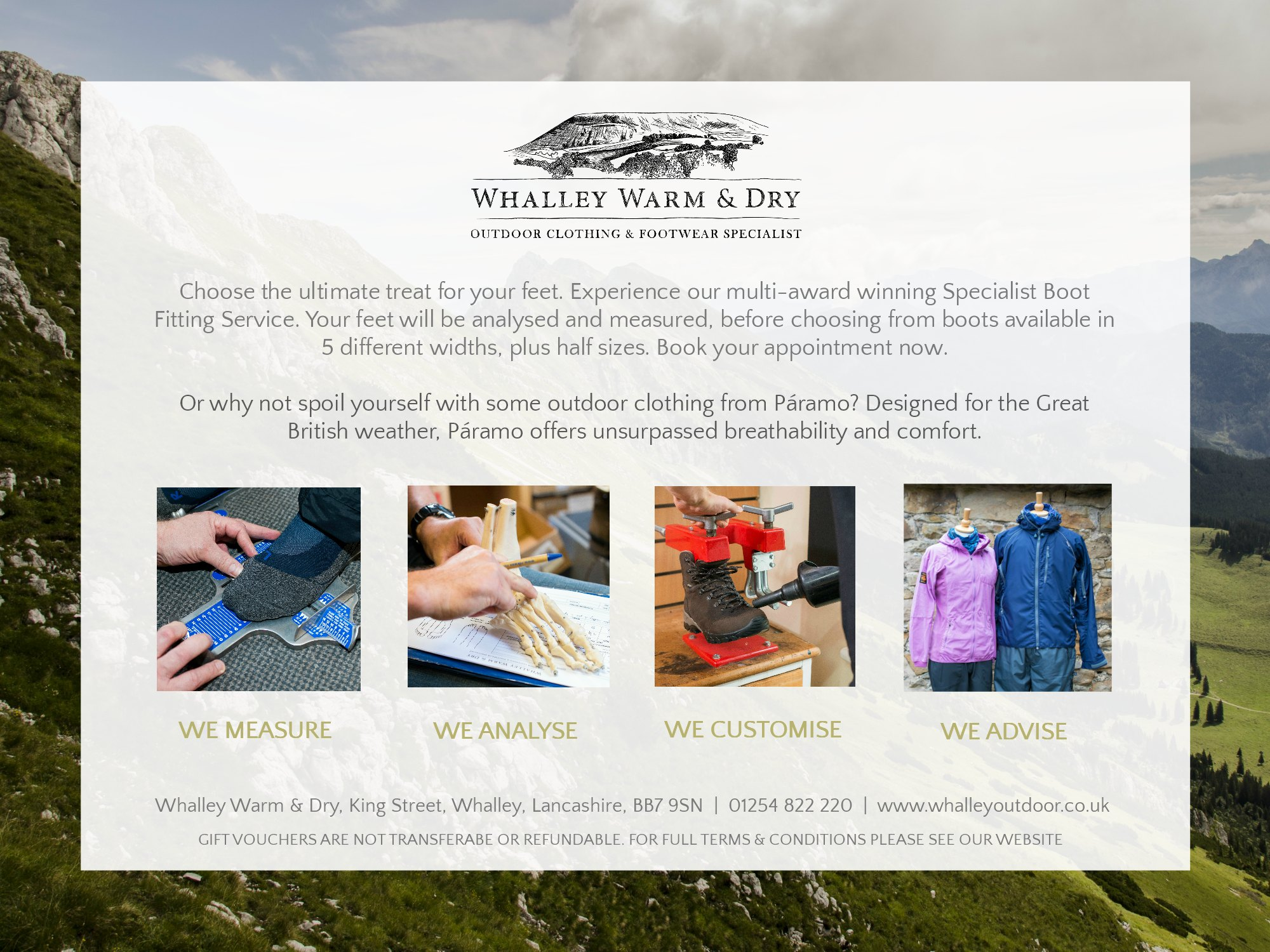 Whalley Warm and Dry Online Gift Voucher Preview Page 2