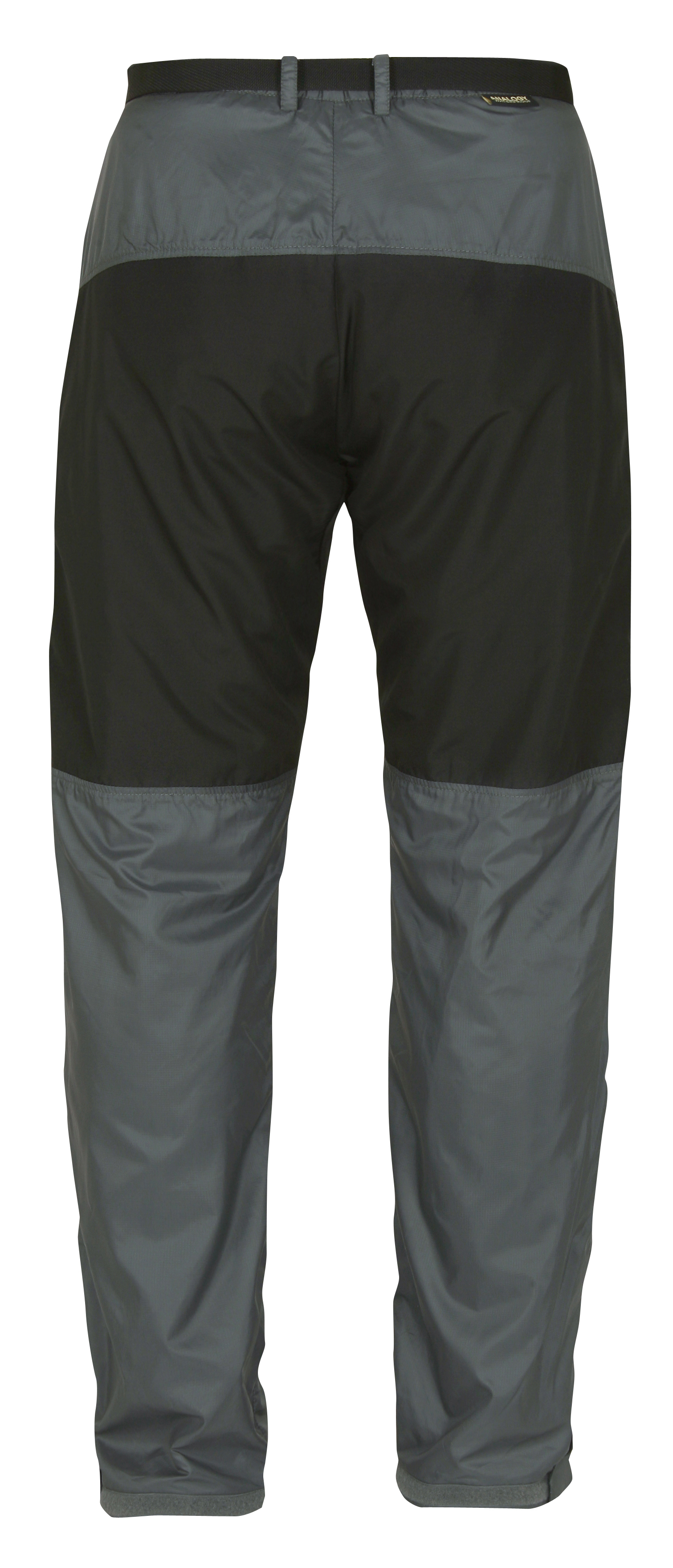 mens velezadventure trousers blackgrey back