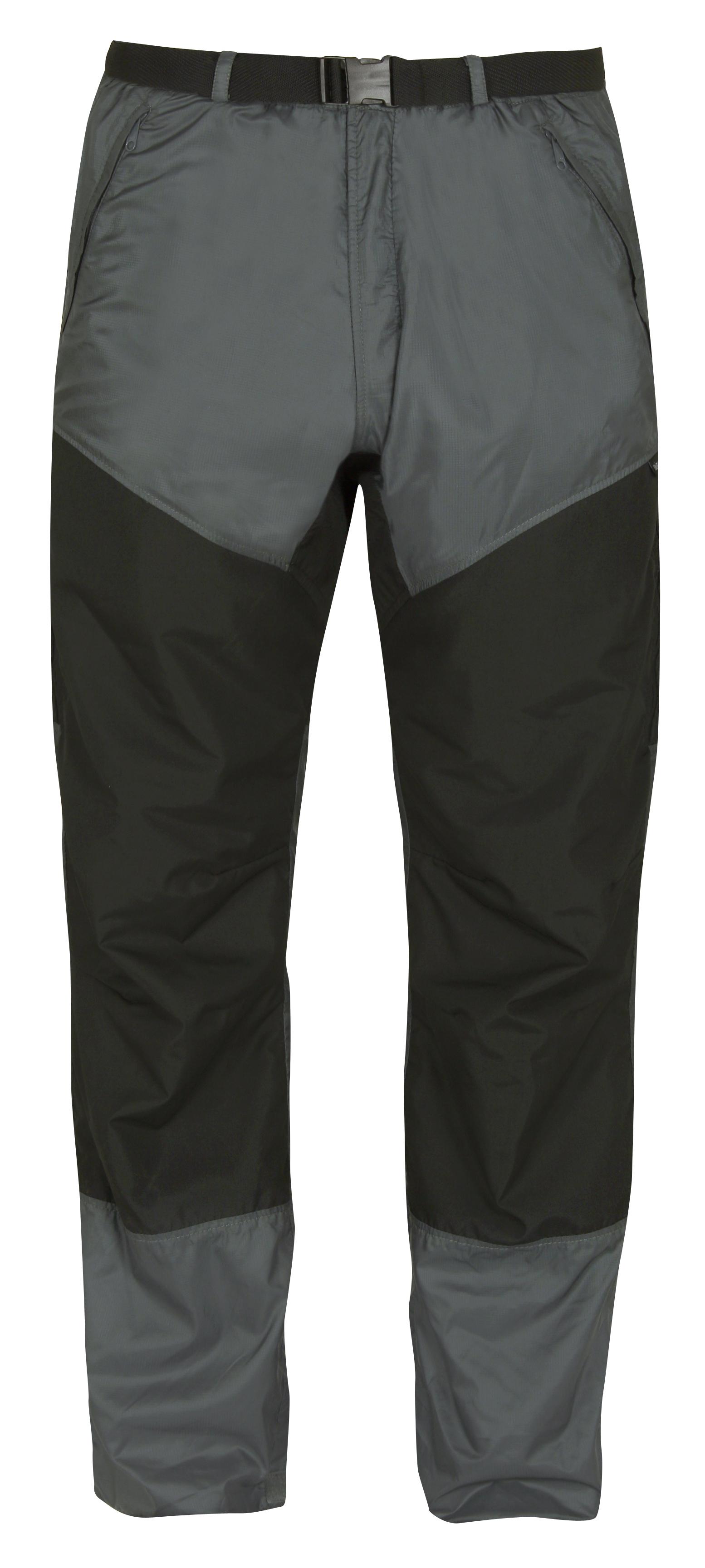 mens velezadventure trousers blackgrey front