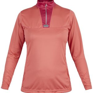 W Cambia Zip HotCoralWine Front