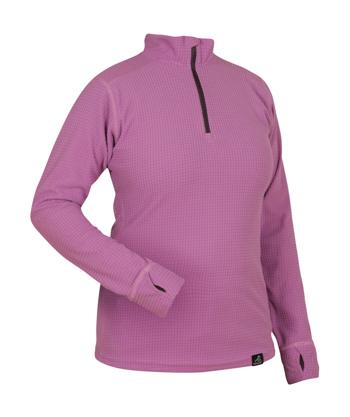Womens Grid Zip PinkClover Angled