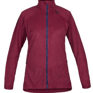 W Zefira Fleece CarmineMarl Front
