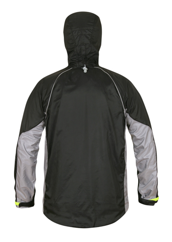 Mens NewQuito Jacket BlackSteel Back