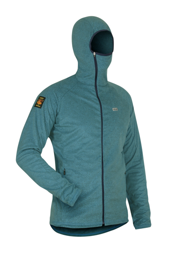 Mens Ostro Fleece NeonBlue Angled